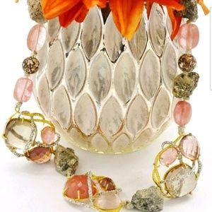 Alexis Bittar Multicolor Stone Encrusted Necklace